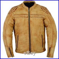 Motard Veste En Cuir Pour Homme, Veste Cuir Moto, Motard Blouson Pour Moto Nuef