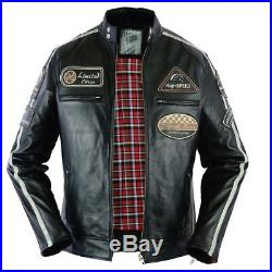 Moto Blouson, Homme Motard Blouson En Cuir, Motard Veste Pour Homme, M-3XL
