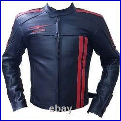 Moto Guzzi Moto Veste Haut Qualité Cuir Vachette Avec Intérieur Ce Protection
