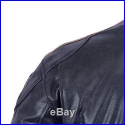 Moto Hommes Rétro motard veste en cuir blouson de motard avec protecteurs NEUF