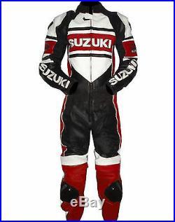 Moto SUZUKI Sport Veste de protection en cuir de course de moto