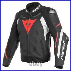 Moto Veste Combinaison Dainese Super Vitesse 3 Couleur Noir/Blanc/Rouge T52