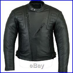 Moto Veste En Cuir. Hommes Moto Blouson En Cuir. Biker Veste en cuir. Taille M-5XL