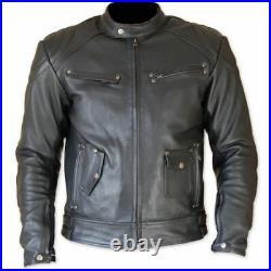 Motor Veste En Cuir Moto Chaqueta De Cuero Motorrad Leder Jacke