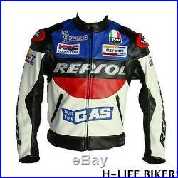 Motorcycle Jacket Moto Veste Blouson Repsol Style Cuir