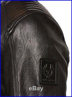 Neuf Belstaff Veste Herren71020219 K Coureur Blouson Veste En Cuir Noir