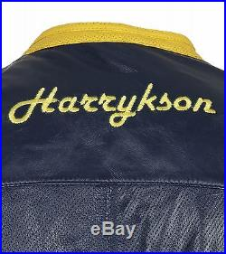 NEUF HARRYKSON perdido Veste hommes en cuir blouson de transition bleu 7201-885