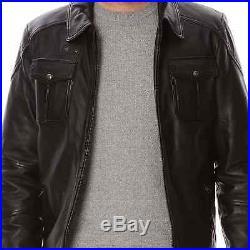 NEUF SCHOTT N. Y. C, veste, blouson en cuir d'agneau, taille M