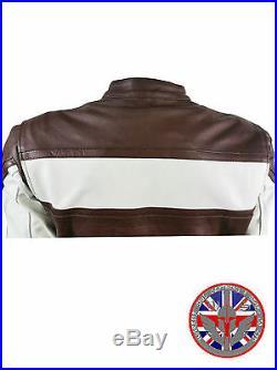 NEUF pour homme moto CE renforcé moto cuir classique HARLEY Veste de motard