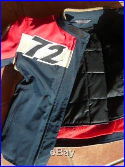 NEUVE! VESTE BLOUSON MOTO FEMME DAINESE D-TEC tissu + cuir T 40 / XS / 16-163cm