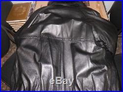 NEUVE authentique GIVENCHY veste blouson cuir lisse MAGNIFIQUE fourrure