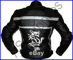 NIRVANA Dragon Veste de Moto en Cuir Blouson Motard Toutes tailles