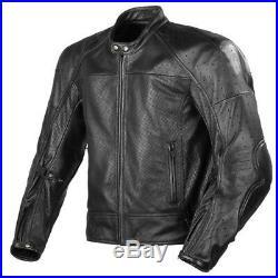 NOIR Hommes Cuir Biker Veste Moto Cuir Veste Courses Sports Cuir Veste EU 50-60