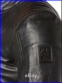 Neuf Belstaff Veste Veste Homme En Cuir 71020539 V Coureur Blouson Noir Homme