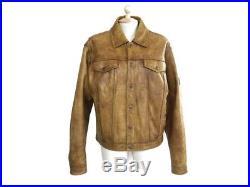 Neuf Blouson Belstaff Black Prince 50 L Cuir Marron Veste Leather Jacket 1200
