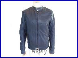 Neuf Blouson Belstaff Grandsen Jacket L 50 Veste En Cuir Bleu Homme Jacket 995