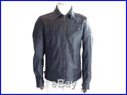 Neuf Blouson Belstaff Powell Jacket 71020249 L 50 En Cuir Noir Veste Biker 1395