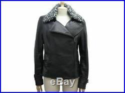 Neuf Blouson Chanel P54645 T 42 L Cuir De Cerf Noir Veste Leather Jacket 6900