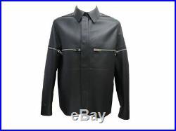 Neuf Blouson Veste Louis Vuiton Perfecto 52 L En Cuir Noir Leather Jacket 4900