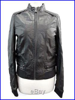 Neuf Manteau Blouson Dolce & Gabbana 38 M Cuir Agneau Veste Jacket Coat 1300