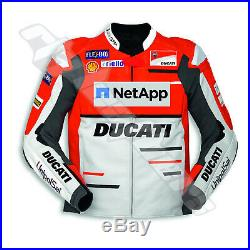 Neuf Moto Ducati Corse Veste Cuir Moto Ducati Desmo Racing Veste