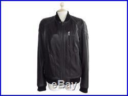 Neuf Veste Belstaff Stanton 71020394 50 L Blouson Cuir Noir Black Jacket 1100