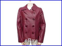Neuf Veste Gerard Darel R0493r361 38 M En Cuir Facon Croco Bordeaux Blouson 650
