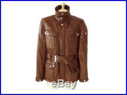 Neuf Veste Ralph Lauren Saharienne 6 36 S Manteau Blouson En Cuir Jacket 1650