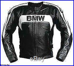 Noir BMW Hommes Moto Cuir Veste Courses Cuir de vachette Des sports Veste