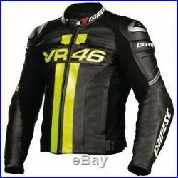Noir Hommes Moto Veste En Cuir Moto Chaqueta De Cuero Motorrad Leder Jacke Ce