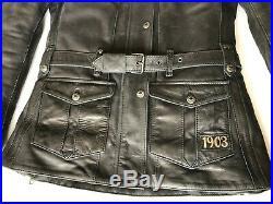 Nwot Harley Davidson 1903 Noir Ceinture Épaule Coude Pads Course Veste Femme S