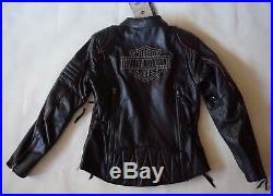 Nwt Harley Davidson 98069-14 Rouge Bordure Noir Imperméable Veste Femmes TAILLE