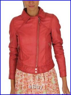 Oakwood Blouson Veste Neuf Femme 100% Cuir Rose Fushia Taille XL