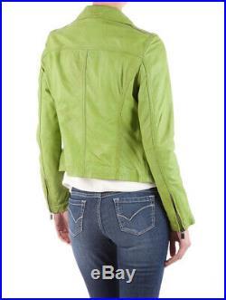 Oakwood Blouson Veste Neuf Femme 100% Cuir Vert Taille XL