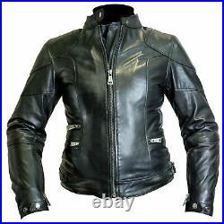 Offre Moto Veste Femme Cuir Noir Helstons Pat Custom Vintage Scrambler Tg. L