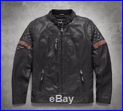 Orig. Harley-Davidson Veste en cuir VARICK Blouson moto 97165-17VM/000L Gr. L