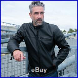 Oxford Produits Walton Homme Cuir Noir Moto Cruiser Veste Homologué Ce