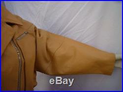 PLATEAU PERFECTO blouson/veste cuir CAMEL taille 42/44