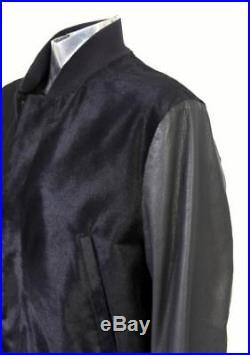 Paul Smith Peau de Veau Veste Cuir Noir Eu50 Grand Blouson Bomber