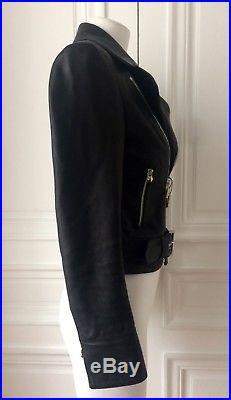 Philipp Plein Leather Perfecto Biker Blouson Veste Cuir Nwt 2850 Size S