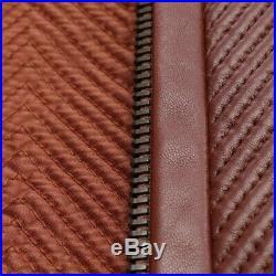 Prada Veste en Cuir Gr. 36 It 42 Braun Veste Femme Veste en Cuir Motard Blouson