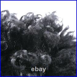 R13 Veste de Peau Mouton Gr. M Noir Femmes en Cuir Neuf Manteau Blouson N2B