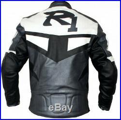 R1 Moto Cuir Veste Hommes Vetement En Cuir Motorbike Biker Cuir Vestes 50