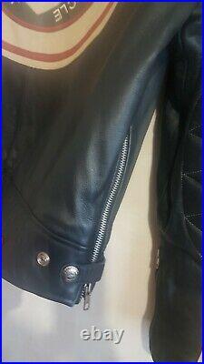 REDSKINS INDY 500 Cuir Vachette Homme Blouson Veste Motard Taille XL / XXL RARE
