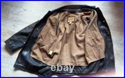 REDSKINS veste blouson vintage 48/50 cuir marron