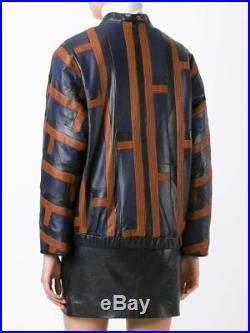 ROSEANNA Blouson teddy veste en patchwork de cuir 36 leather jacket
