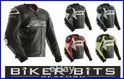 RST Tractech Evo-R Moto SPORTS Niveau Ce AAA Cuir Course Bosse Veste