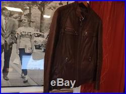 Rare Veste en Cuir Homme Redskins 400 Blouson Leather Jacket Taille L (EU 52)