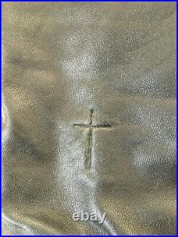 Rare blouson cuir Surface to Air (S2A) x Justice Xavier (Ed Banger) Taille M