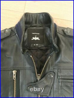 Rare blouson cuir Surface to Air x Justice Xavier (Ed Banger) Taille M
